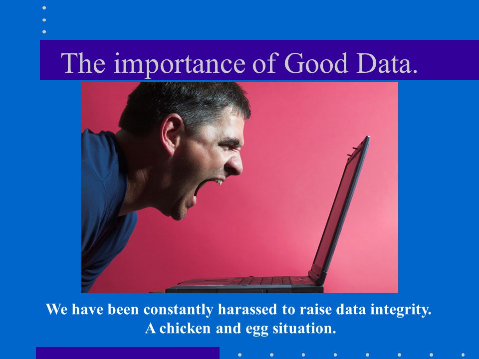 The importance of Good Data.