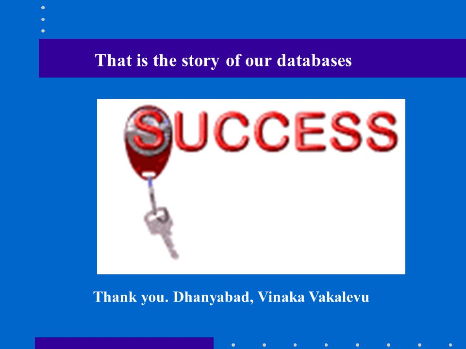 Thank you. Dhanyabad, Vinaka Vakalevu