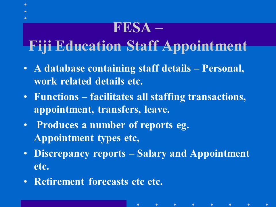 FESA – Fiji Education Staff Appointment
