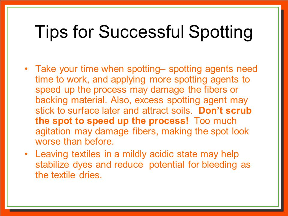 Tips for Successful Spotting