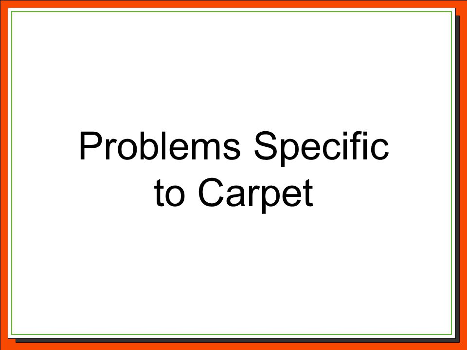 Problems Specific to Carpet