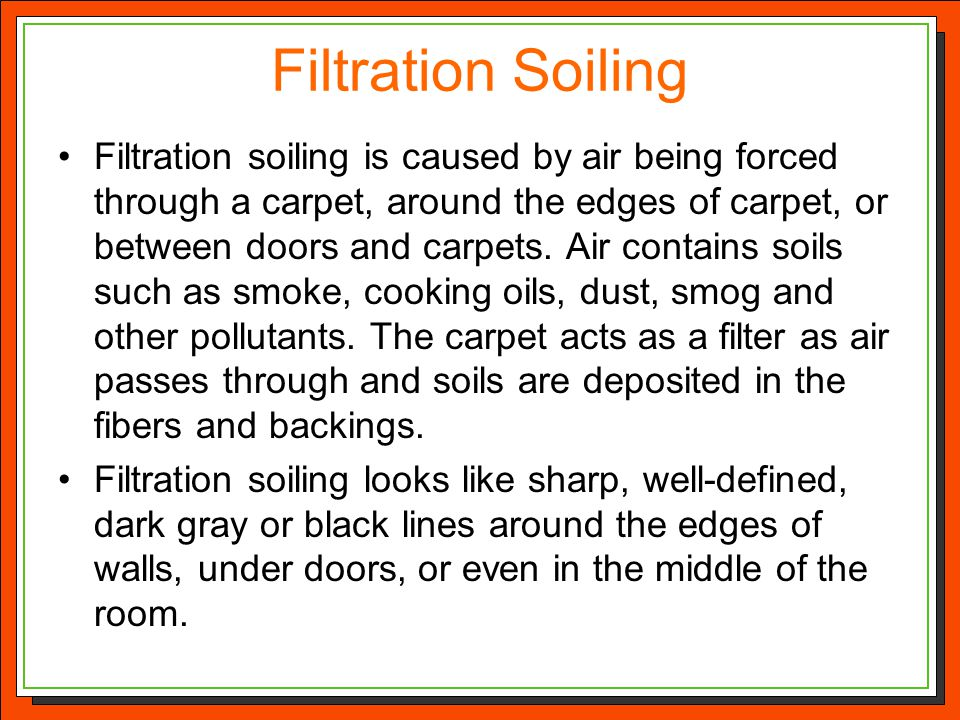 Filtration Soiling
