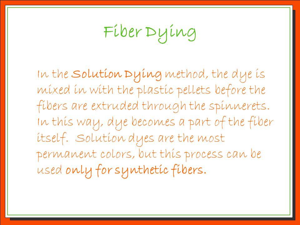 Fiber Dying