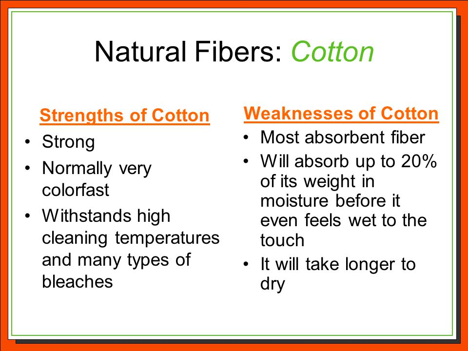 Natural Fibers: Cotton