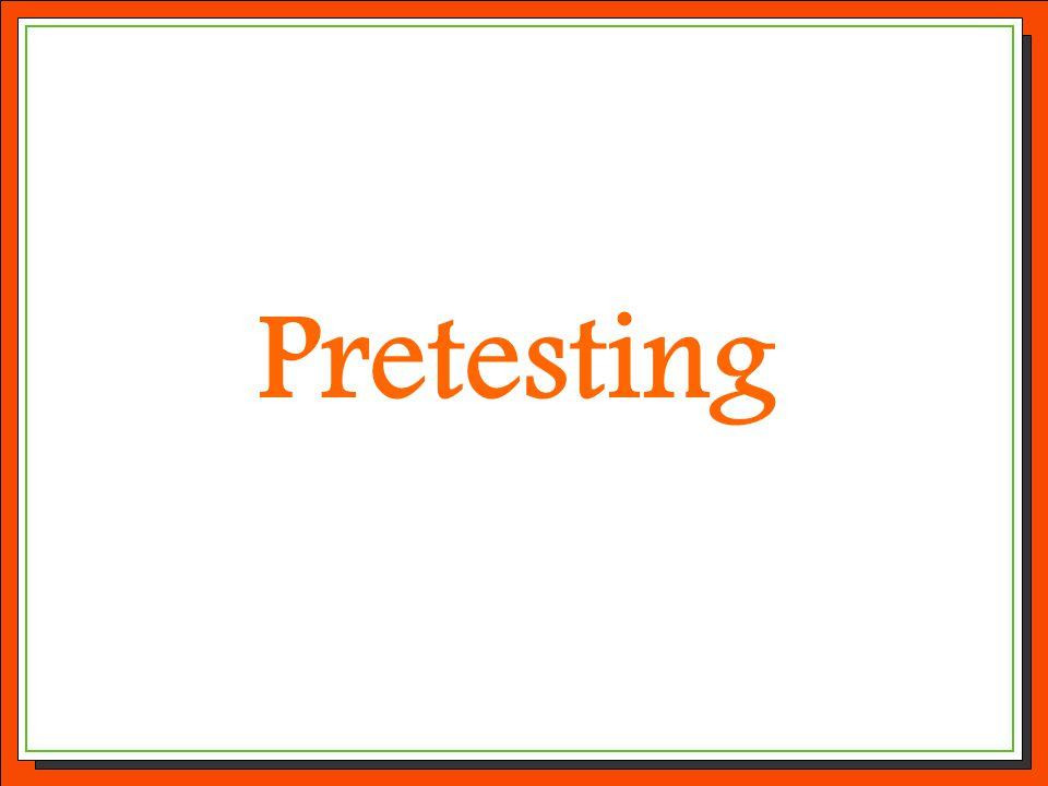 Pretesting