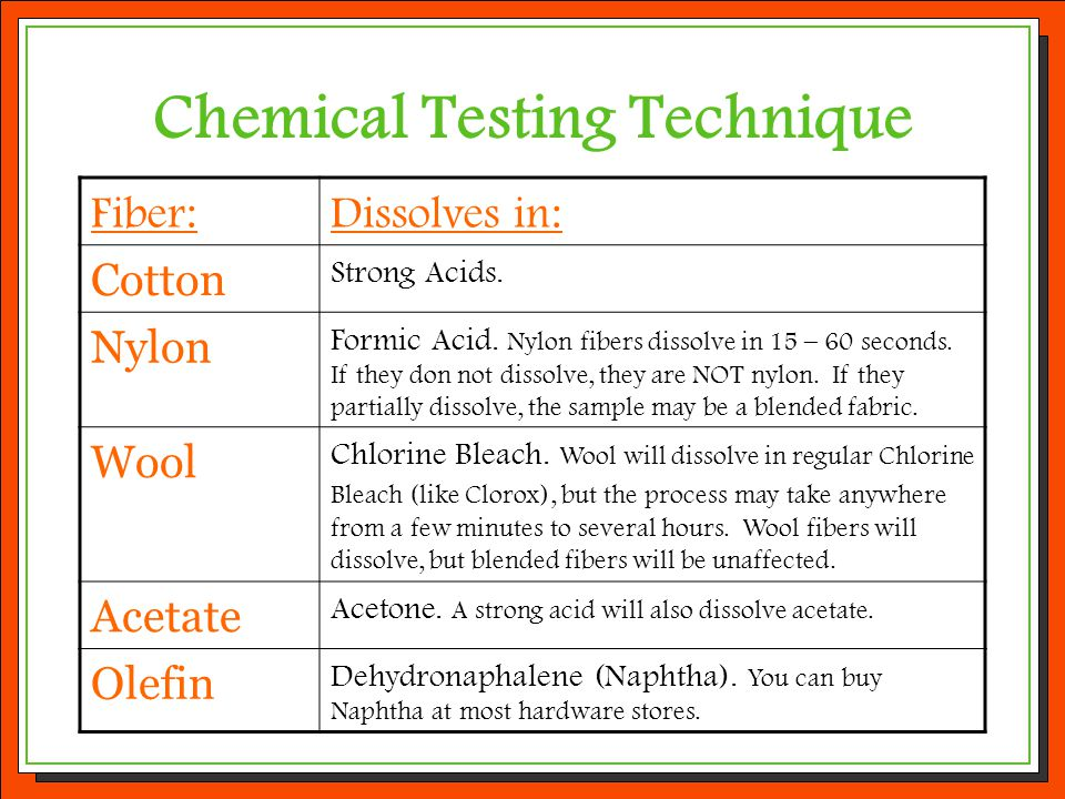 Chemical Testing Technique