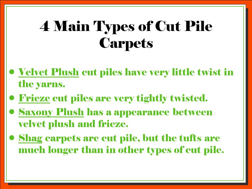 4 Main Types of Cut Pile Carpets