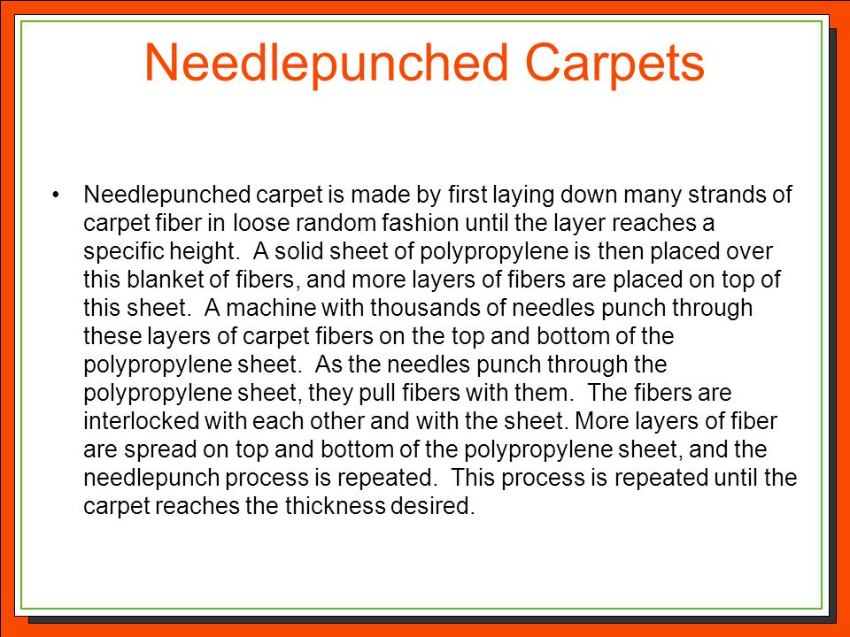 Needlepunched Carpets