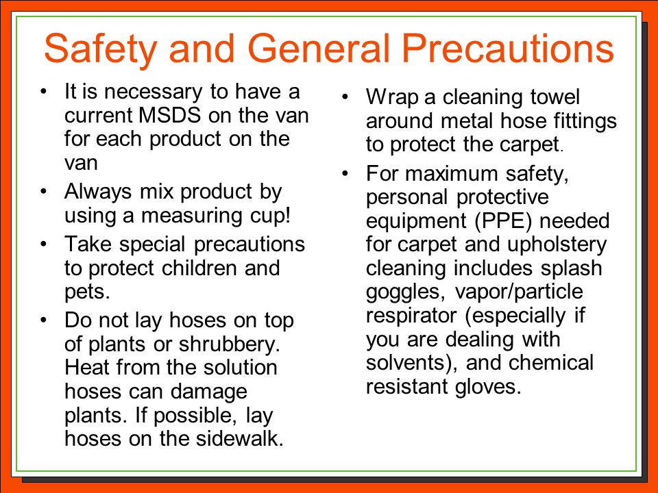 Safety and General Precautions