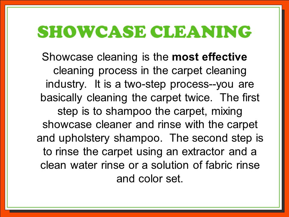 SHOWCASE CLEANING