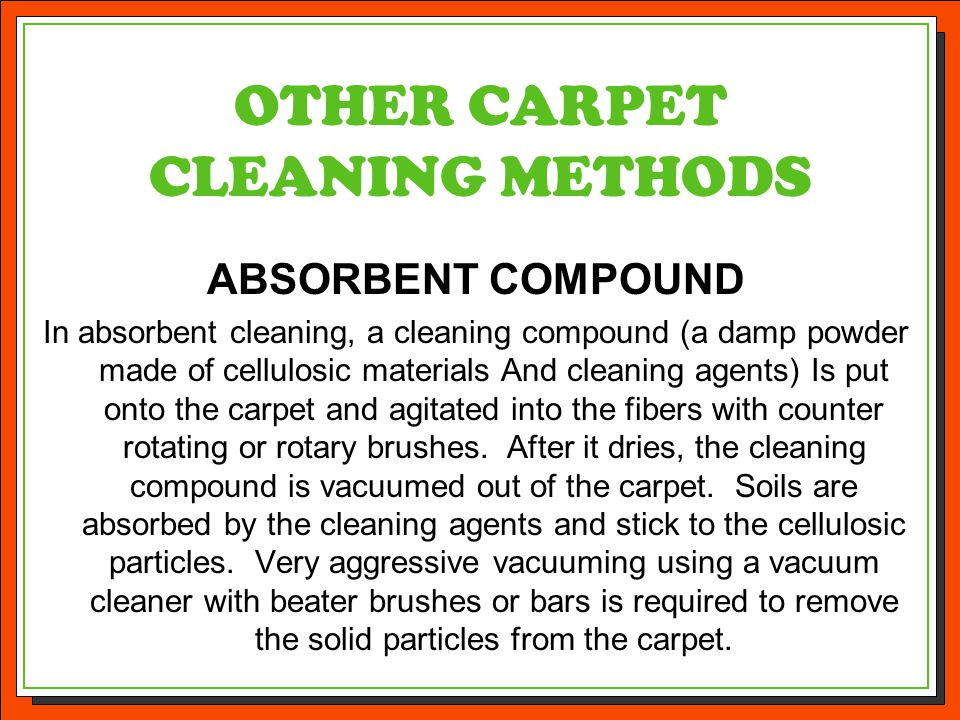 OTHER CARPET CLEANING METHODS