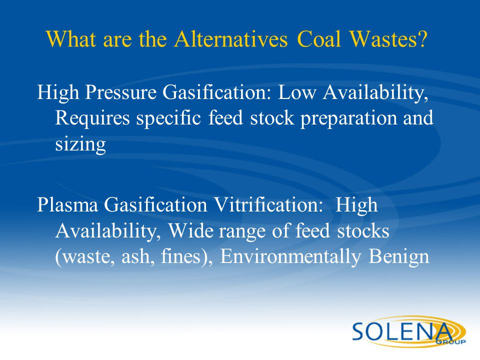 What are the Alternatives Coal Wastes