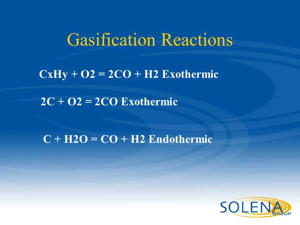 Gasification Reactions
