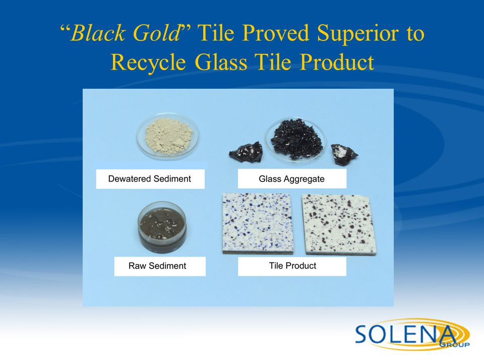 Black Gold Tile Proved Superior to Recycle Glass Tile Product
