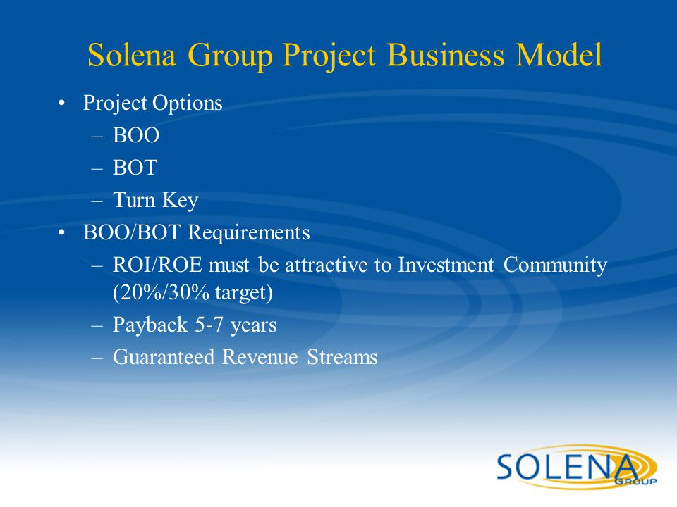 Solena Group Project Business Model