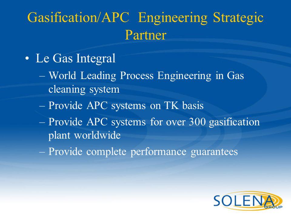 Gasification/APC Engineering Strategic Partner
