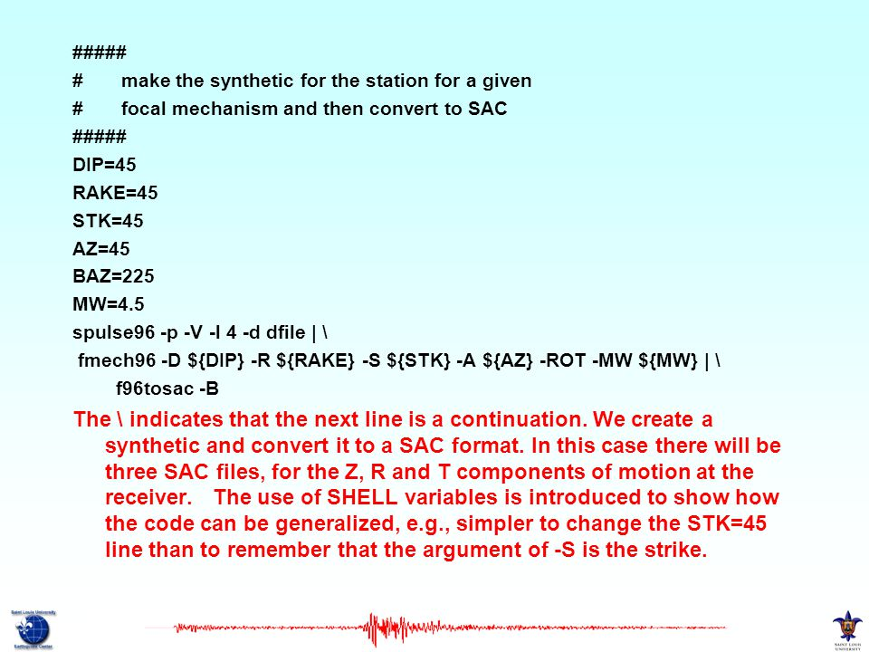 ##### # make the synthetic for the station for a given. # focal mechanism and then convert to SAC.
