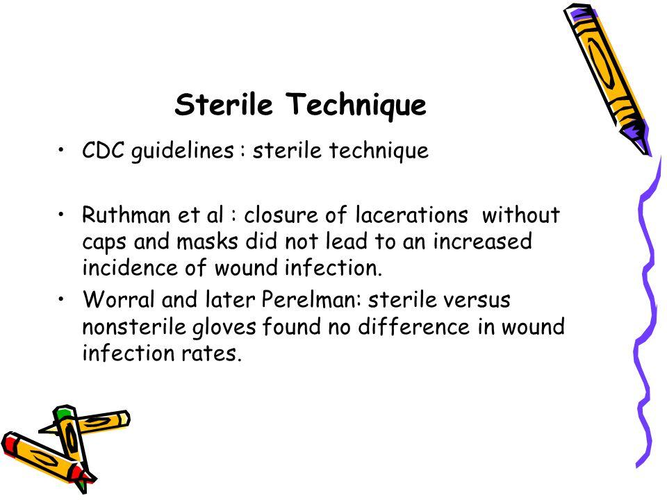 Sterile Technique CDC guidelines : sterile technique