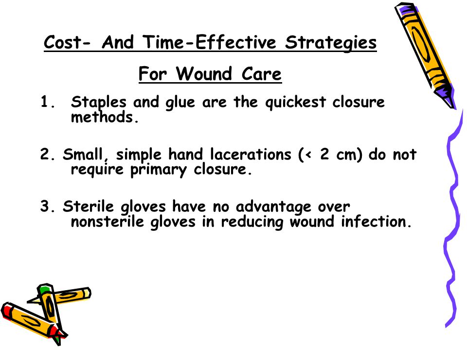 Cost- And Time-Effective Strategies For Wound Care