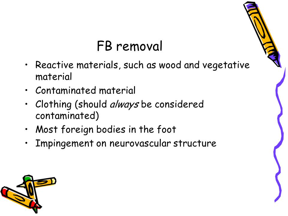 FB removal Reactive materials, such as wood and vegetative material