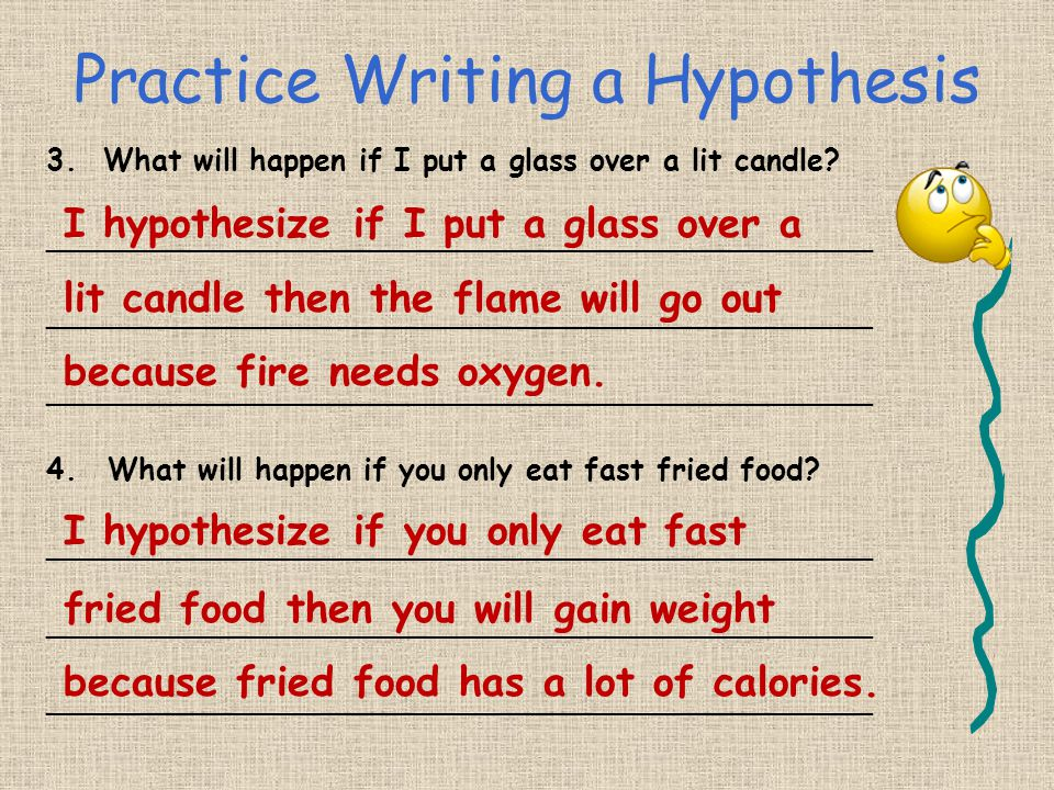 Practice Writing a Hypothesis