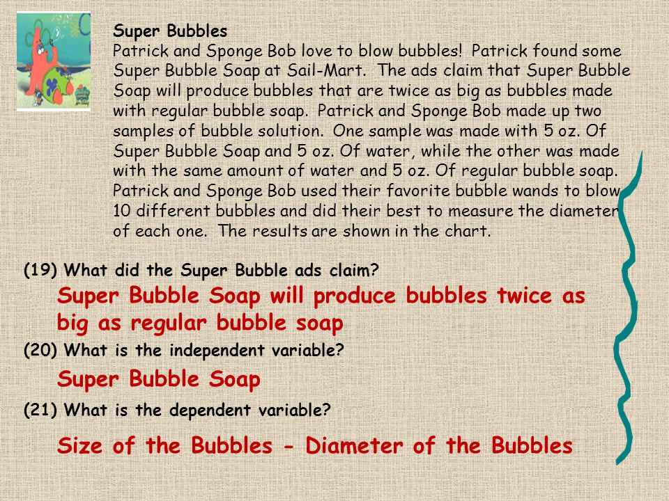 Size of the Bubbles - Diameter of the Bubbles