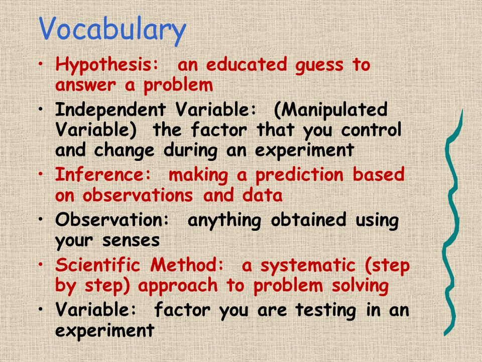 Vocabulary Hypothesis: an educated guess to answer a problem