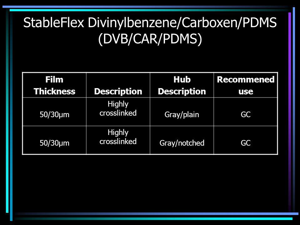 StableFlex Divinylbenzene/Carboxen/PDMS (DVB/CAR/PDMS)