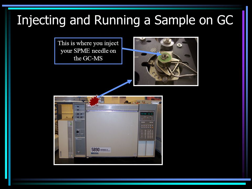Injecting and Running a Sample on GC