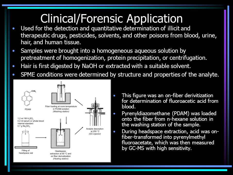 Clinical/Forensic Application