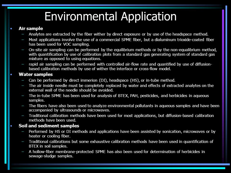 Environmental Application