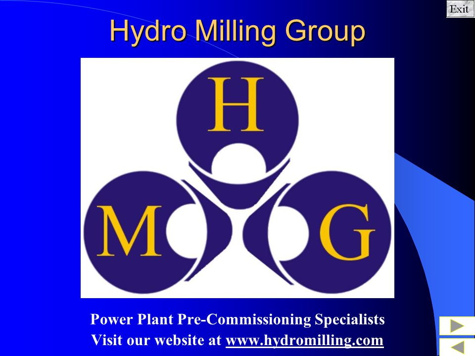 Hydro Milling Group Power Plant Pre-Commissioning Specialists