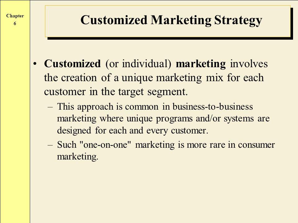 Customized Marketing Strategy