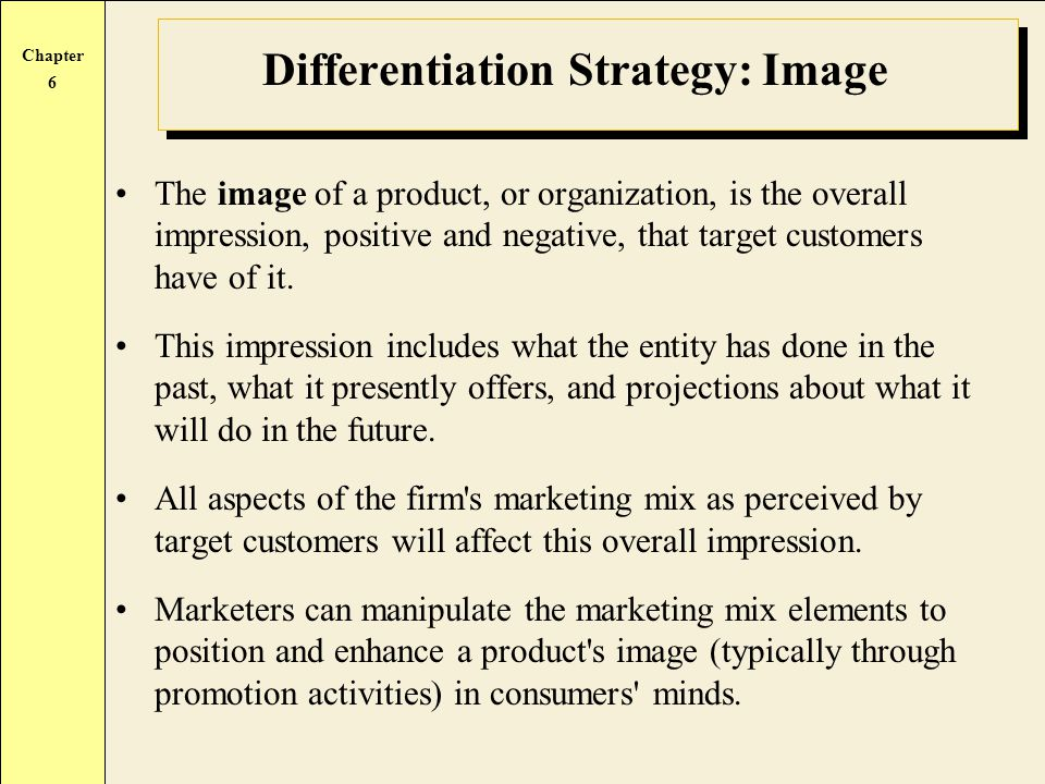 Differentiation Strategy: Image