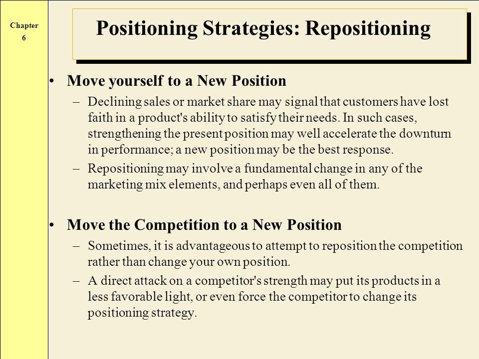 Positioning Strategies: Repositioning