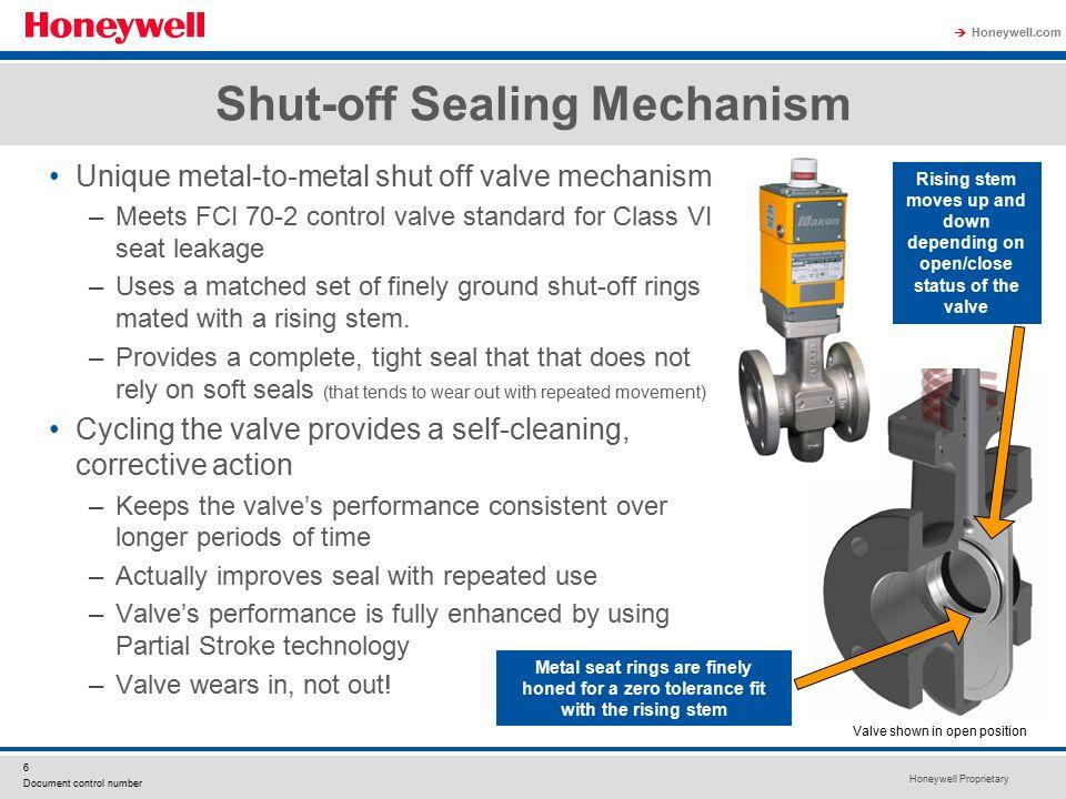Shut-off Sealing Mechanism