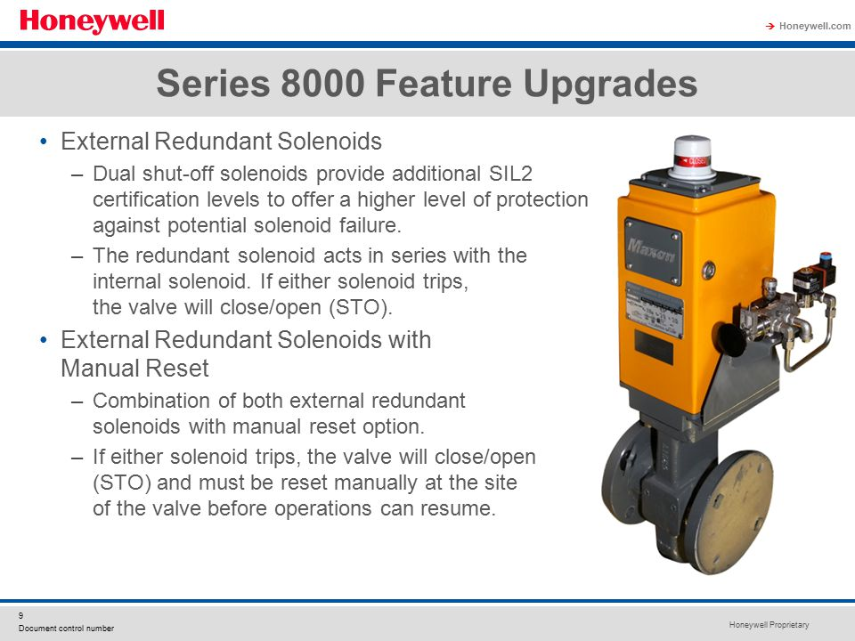Series 8000 Feature Upgrades