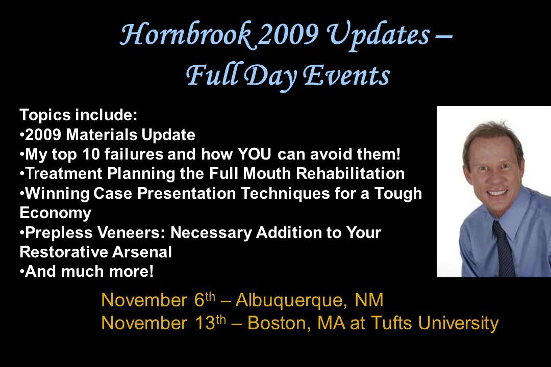 Hornbrook 2009 Updates – Full Day Events