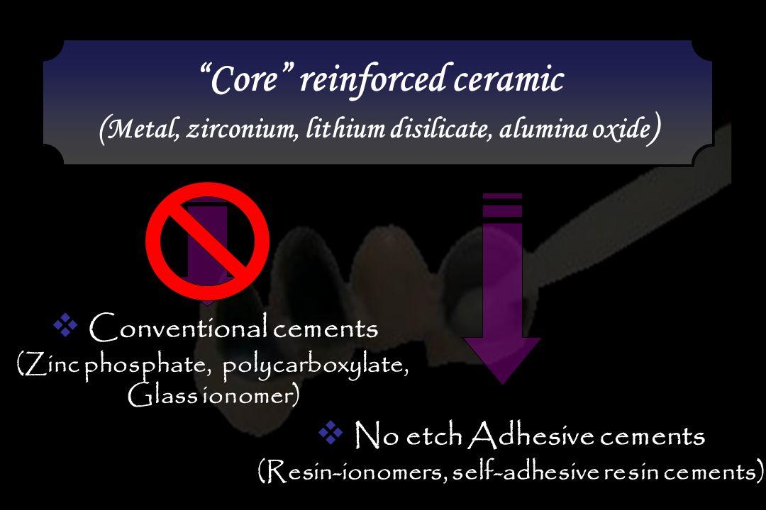 Core reinforced ceramic