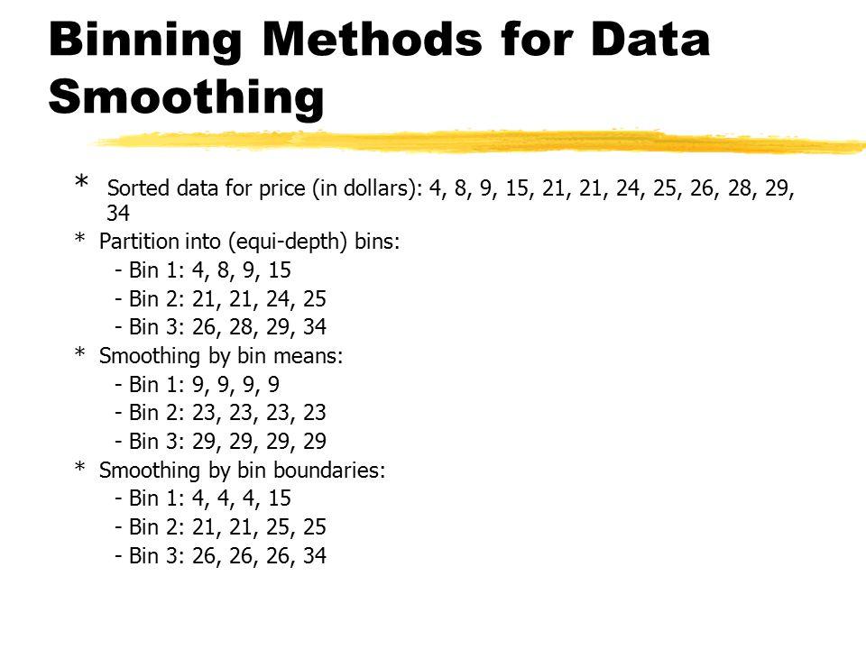 Binning Methods for Data Smoothing
