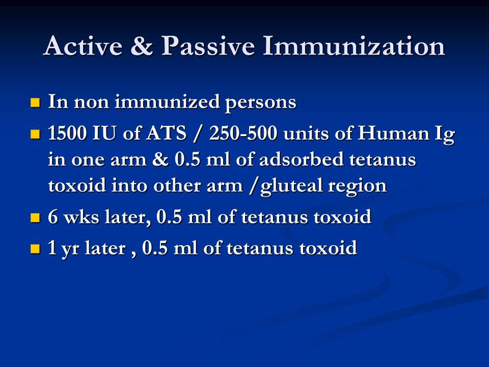 Active & Passive Immunization