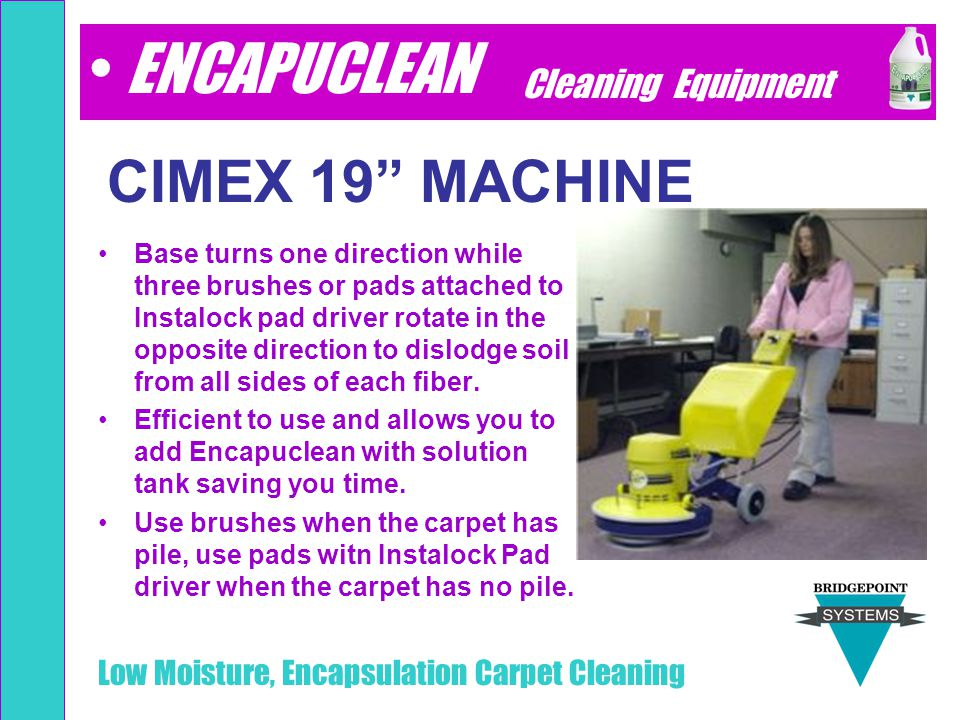 ENCAPUCLEAN CIMEX 19 MACHINE Cleaning Equipment