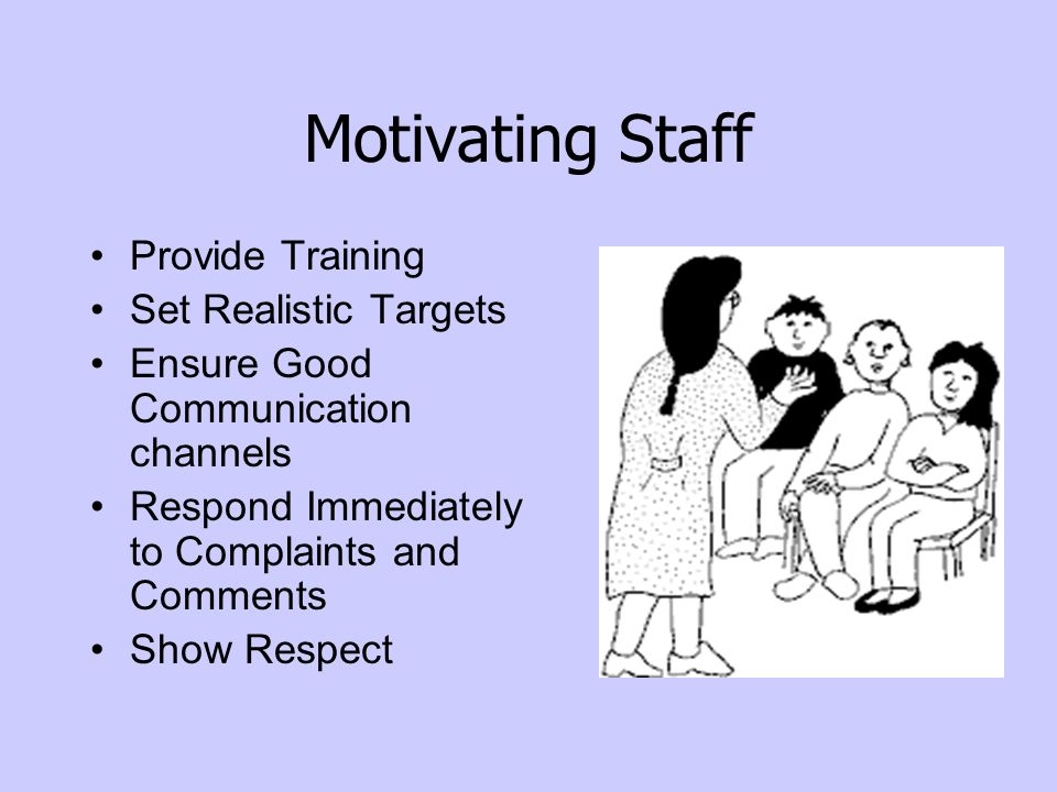 Motivating Staff Provide Training Set Realistic Targets