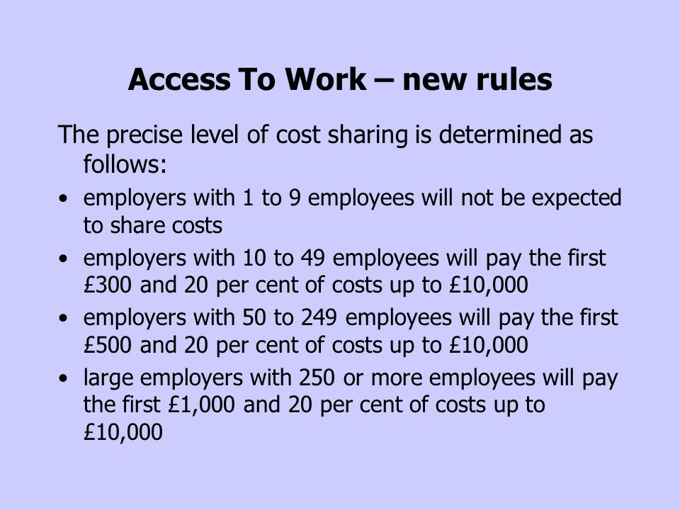 Access To Work – new rules