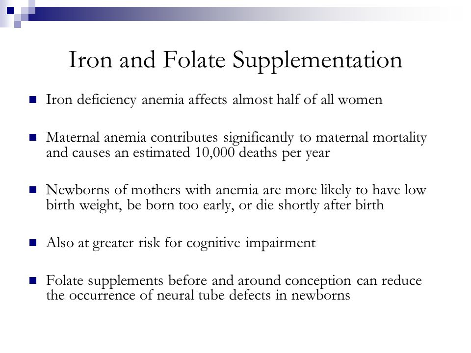 Iron and Folate Supplementation