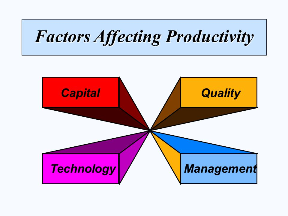 Factors Affecting Productivity