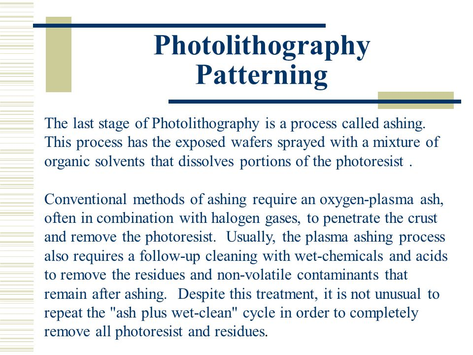 Photolithography Patterning