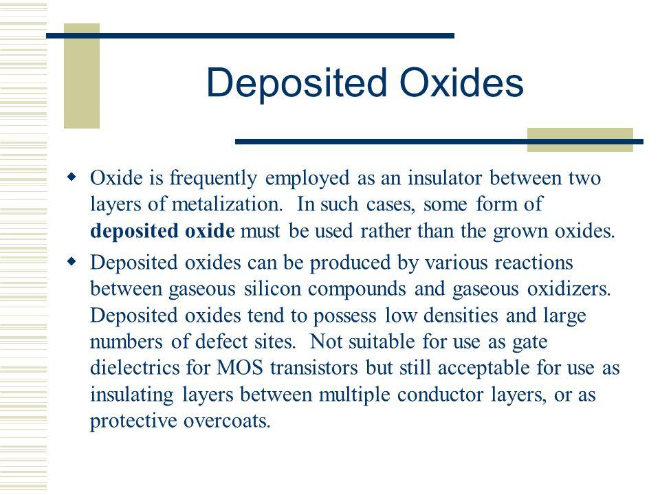 Deposited Oxides
