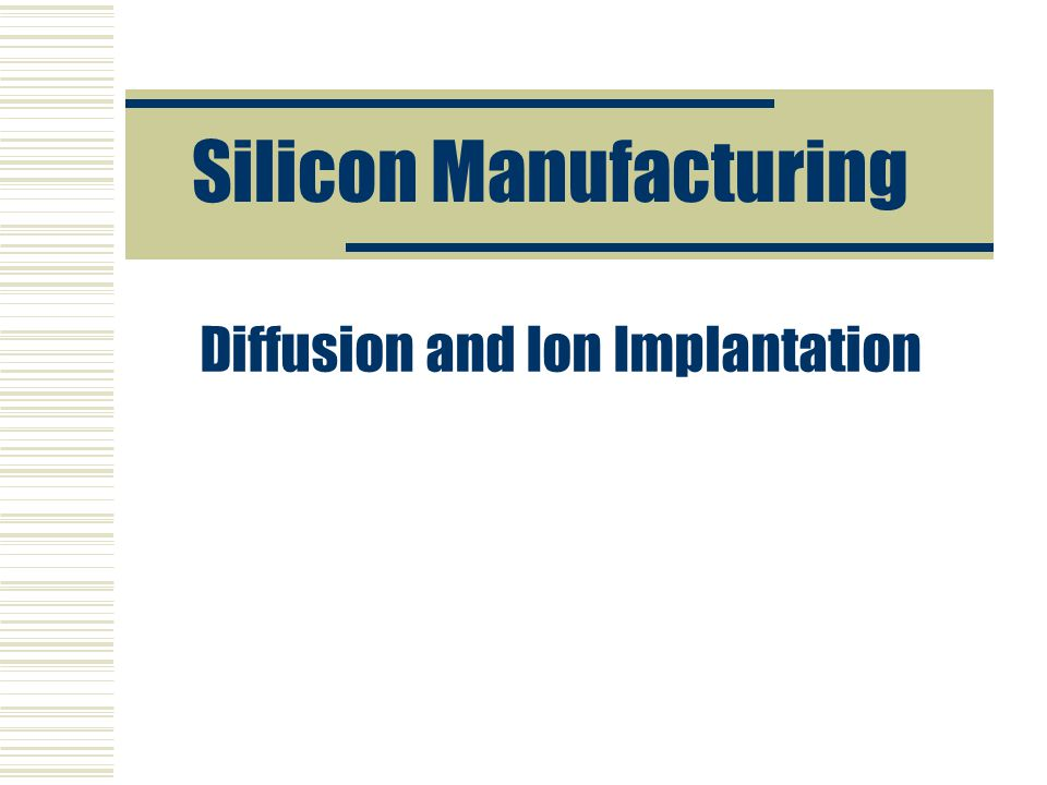 Silicon Manufacturing