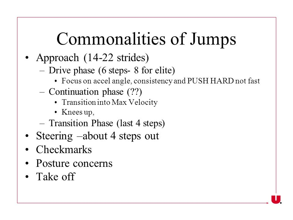 Commonalities of Jumps